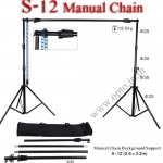 Manual Chain Background Stand Set Backdrop S-12