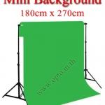 Mini Green Background Backdrop 180x270cm. Cotton for Chromakey ฉากถ่ายรูปภาพ