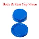 Blue Color Body Rear Lens Cap For Nikon ฝาปิดบอดี้และฝาปิดท้ายเลนส์นิคอนสีฟ้า