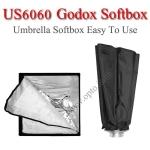 US6060 Umbrella SoftBox Bowen's Mount , Rectangular 60×60CM ซอฟท์บ๊อกซ์ไฟสตูดิโอ