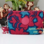 Kipling Creativity S Funky Flower C กระเป๋าเอนกประประสงค์ขนาดเล็ก 3 ช่อง + 2ช่องเล็ก ขนาด 14.5 x 9.5 x5 cm