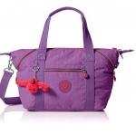 Kipling Art U Violet Pueple กระเป๋าสะพายขึ้นไหล่ หรือสะพายข้าง หรือถือ ขนาด 17.25x10.75x7 นิ้ว