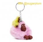 Kipling Baby Monkey Keychain พวงกุญแจลิงแม่ลูก สี Sugarplum ขนาด 2x5x1 นิ้ว