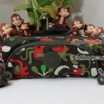 Kipling Cute Monkey Friends Kh กระเป๋าใส่ดินสอ หรือ เครื่องสำอาง แปรงแตงหน้า ขนาด 22 L x 7H x 6.5W cm