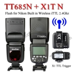 TT685N Godox Flash Speedlight for Nikon iTTL + TTL Wireless Trigger X1T-N TT685 แฟลชหัวค้อนนิคอน