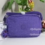 Kipling Dee Vivid Purple กระเป๋าสะพายน่ารัก รุ่นนี้มี 2 ช่องซิป ขนาด L7.5 x H 5 X 2.75 นิ้ว