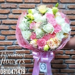 ช่อดอกไม้ สีชมพูหวานๆ (M)