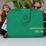 Kipling New Money Mojito Green เป็นกระเป๋าสตางค์ ขนาดกระชับมือ ขนาด 10 L x 18.5 H x 3.5 W cm