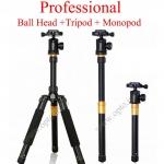 AK-336 Professional Tripods + Monopod + Ball Head Load 8kg. ขาตั้งกล้อง+โมโนพอด