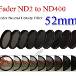 Fader Neutral Density ND2 to ND400 Filter 52mm.