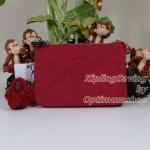 Kipling Creativity Vibrant Red กระเป๋าเอนกประประสงค์ขนาดเล็ก 3 ช่อง + 2ช่องเล็ก ขนาด 14.5 x 9.5 x5 cm