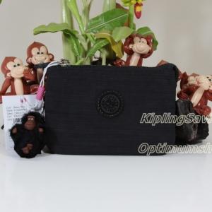 Kipling Creativity Dazz Black กระเป๋าเอนกประประสงค์ขนาดเล็ก 3 ช่อง + 2ช่องเล็ก ขนาด 14.5 x 9.5 x5 cm