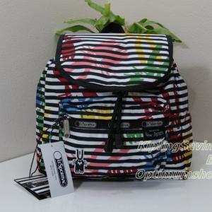 Lesportsac Edie Small Backpack Jeffery กระเป๋าสะพายหลังขนาดเล็ก ออกแบบเป็นพิเศษโดย Peter Jenzen ขนาด11 x 10 x 5 นิ้ว