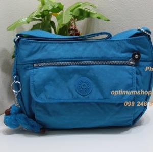 Kipling Syro Icy Blue กระเป๋าสะพายข้าง ทรงสวย เหมาะกับสาวหวานๆ ขนาด 31 L x 22 H x 12.5 W cm