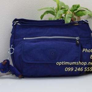 Kipling Syro Flash Blue กระเป๋าสะพายข้าง ทรงสวย เหมาะกับสาวหวานๆ ขนาด 31 L x 22 H x 12.5 W cm