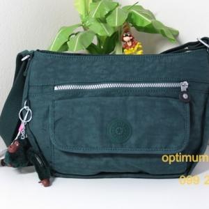 Kipling Syro Winter Green กระเป๋าสะพายข้าง ทรงสวย เหมาะกับสาวหวานๆ ขนาด 31 L x 22 H x 12.5 W cm