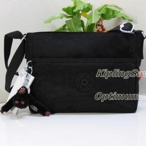 Kipling Camille Black กระเป๋าสะพายข้าง มีช่องเพิ่มทั้งหน้าและหลัง หยิบใช้สะดวก น่าใช้มาก ขนาด L10 x H 8 x D 2.75 นิ้ว