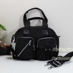 "Kipling Defea Black กระเป๋ารุ่นยอดนิยมตลอดกาล ขนาด 13"" x 9.5"" x 6"" นิ้ว"