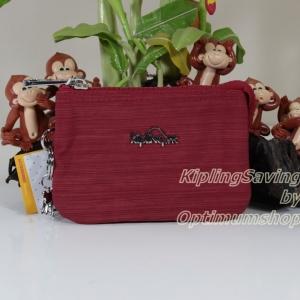 Kipling Creativity Dazz Red กระเป๋าเอนกประประสงค์ขนาดเล็ก 3 ช่อง + 2ช่องเล็ก ขนาด 14.5 x 9.5 x5 cm