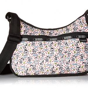 Lesportsac Classic Hobo Happiness Dots Snoopy Limited กระเป๋าสะพายขนาดกำลังเหมาะ ขนาด 9 x 12 x 5.25 นิ้ว