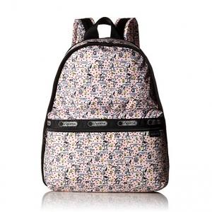 Lesportsac Essential Basic Backpack Happiness Dots กระเป๋าสะพายหลังขนาดพอเหมาะ ขนาด15 x 12.5 x 7.5 นิ้ว