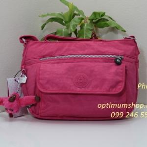 Kipling Syro Vibrant Pink กระเป๋าสะพายข้าง ทรงสวย เหมาะกับสาวหวานๆ ขนาด L12.25 x H 8.75 x D 5 นิ้ว
