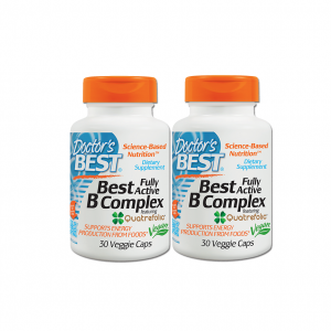 Doctor's Best, Best Fully Active B Complex, 30 Veggie Caps 2 กป