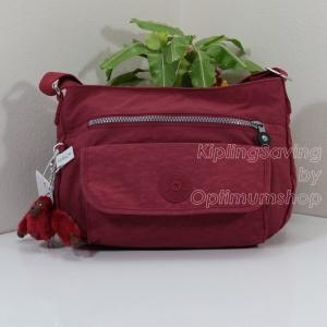 Kipling Syro Scarlet กระเป๋าสะพายข้าง ทรงสวย เหมาะกับสาวหวานๆ ขนาด L12.25 x H 8.75 x D 5 นิ้ว