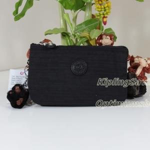 Kipling Creativity L Dazz Black กระเป๋าอนกประสงค์ 3 ช่อง + 2 ช่องเล็ก ขนาด 18.5 x 11 x 5 cm