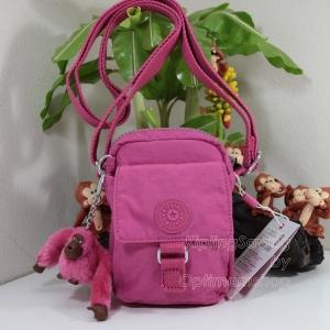 Kipling Teddy Carmine Pink ใบเล็กๆ mini bag ขนาด 10 L x 14 H x 6.5 W cm