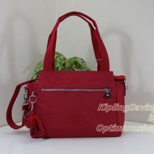 Kipling Elysia Vibrant Red กระเป๋าสะพายข้าง ขนาด (กว้าง x ลึก x สูง) 29.5 × 23 × 12.5 ซม.