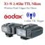 Godox X1-N Auto TTL 2.4Ghz Wireless Trigger for Nikon Flash speedlite ตัวสั่งงานแฟลชไร้สายแบบออโต้ thumbnail 1