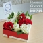 กล่องดอกไม้ กุหลาบ แดงขาว (M) thumbnail 2