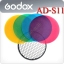 AD-S11 Color Gel Pack with Reflector Grid For Godox AD180 AD360 Flash thumbnail 1