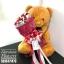 ตุ๊กตาหมี กอดช่อกุหลาบแดง (L) thumbnail 1