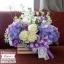 กล่องดอกไม้ แสดงความยินดี ม่วง ขาว (M) thumbnail 2