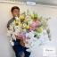 กระเช้าดอกไม้ ฟาแลน กุหลาบขาว (Premium) thumbnail 1