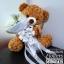 ตุ๊กตาหมี กอดช่อกุหลาบขาว (L) thumbnail 1