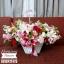 กระเช้าดอกไม้ โทนสี แดง ขาว (L) thumbnail 1