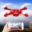 โดรนติดกล้อง SYMA X5UW 720P WIFI โดรนบังคับ เครื่องบินบังคับ รุ่น X5UW (สีแดง) thumbnail 7