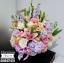 กระเช้าดอกไม้ ทรงสูง ม่วง ชมพู (XL) thumbnail 3