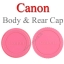 Pink Color Body Rear Lens Cap For Canon ฝาปิดบอดี้และฝาปิดท้ายเลนส์แคนนอนสีชมพู thumbnail 1