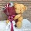 ตุ๊กตาหมีช่อกุหลาบแดง (L) thumbnail 2