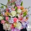 กระเช้าดอกไม้ ทรงสูง ม่วง ชมพู (XL) thumbnail 4