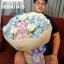 ช่อดอกไม้ สีพาสเทล ชมพู ฟ้า (XL) thumbnail 2