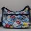 Lesportsac Classic Hobo Ocean Bloom Navy กระเป๋าสะพายขนาดกำลังเหมาะ ขนาด 9 x 12 x 5.25 นิ้ว thumbnail 1