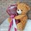 ตุ๊กตาหมีขนกุหลาบกอดช่อกุหลาบแดง (L) thumbnail 3