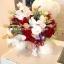 ตุ๊กตาหมีกอดตะกร้าดอกไม้ (PREMIUM)