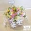 กระเช้าดอกไม้ ฟาแลน กุหลาบขาว (Premium) thumbnail 4