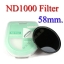Neutral Density ND 1000 (10 Stop ND) ND1000 Filter 58mm. thumbnail 1